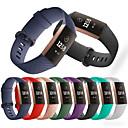 baratos Pulseiras para Fitbit-Pulseiras de Relógio para Fitbit Charge 3 Fitbit Pulseira Esportiva Silicone Tira de Pulso