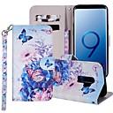 رخيصةأون حافظات / جرابات هواتف جالكسي S-غطاء من أجل Samsung Galaxy S9 / S9 Plus / S8 Plus محفظة / حامل البطاقات / مع حامل غطاء كامل للجسم فراشة / زهور قاسي جلد PU