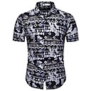 economico Camicie da uomo-Camicia - Taglie UE / USA Per uomo Con stampe, Fantasia floreale / Fantasia geometrica / Pop art Cotone Nero XL
