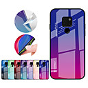 cheap Screen Protectors for Samsung-Case For Huawei Huawei Mate 20 Pro / Huawei Mate 20 Shockproof Back Cover Color Gradient Hard TPU / Tempered Glass for Mate 10 pro / Mate 10 lite / Huawei Mate 20 lite