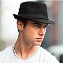 رخيصةأون قبعات الرجال-كل الفصول أسود قبعة فيدورا لون سادة رجالي كتان نايلون,الثلاثينات