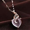 hesapli Moda Kolyeler-Kadın's Kedi gözü Chrysoberyl Uçlu Kolyeler Kalp Gül Altın 54 cm Kolyeler Mücevher 1pc Uyumluluk Günlük