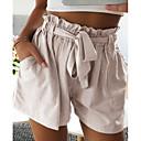 ieftine Adaptoare de Rețea-Pentru femei De Bază Pantaloni Scurți Pantaloni - Mată Bej Gri Kaki M L XL