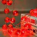 baratos Fitas e Mangueiras de LED-3M Cordões de Luzes 20 LEDs Vermelho Decorativa Baterias AA alimentadas 1conjunto