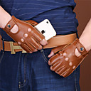 ieftine Întrerupătoare-jumătate de deget mănuși de motocicletă de piele anti-alunecare / wearproof
