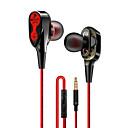 hesapli Android-LITBest Wired earphone High bass dual drive stereo Kablolu Kulak İçi Kulaklık Kablolu Cep Telefonu Mikrofon ile