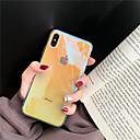 رخيصةأون أغطية أيفون-غطاء من أجل Apple iPhone XS / iPhone XR / iPhone XS Max شبه شفّاف غطاء خلفي لون متغاير ناعم TPU