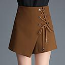 ieftine Machiaj & Îngrijire Unghii-Pentru femei De Bază Mărime Plus Size Pantaloni Scurți Pantaloni - Mată Trifoi Negru Camel XXL XXXL XXXXL
