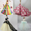 رخيصةأون وسائد-دمية اللباس إلى Barbie لون الصلبة البوليستر فستان إلى لفتاة دمية لعبة