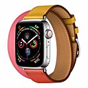 tanie Opaski do Apple Watch-Watch Band na Apple Watch Series 4/3/2/1 Jabłko Klasyczna klamra Prawdziwa skóra Opaska na nadgarstek