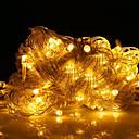 رخيصةأون أضواء شريط LED-10m أضواء سلسلة 100 المصابيح أبيض دافئ ديكور 220-240 V 1SET