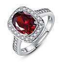 Χαμηλού Κόστους Διακοσμητικά αυτοκόλλητα-Γυναικεία Δαχτυλίδι Στυλάτο Μοδάτο Δαχτυλίδι Κοσμήματα Λευκό / Σκούρο μπλε / Κόκκινο Για Καθημερινά Ρυθμιζόμενο