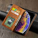 cheap iPhone Cases-Case For Apple iPhone XS / iPhone XR / iPhone XS Max Wallet / Card Holder / Shockproof Full Body Cases Solid Colored Hard PU Leather