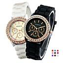 ieftine Cuarț ceasuri-Pentru femei Quartz Quartz Silicon Negru / Alb / Roșu Ceas Casual Analog Modă - Galben Verde Deschis Piersică Un an Durată de Viaţă Baterie / Oțel inoxidabil