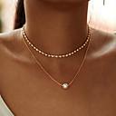 ieftine Ustensile & Gadget-uri de Copt-de moda multi-strat simplu stras cercei lant colier pentru femei de aur noi culori din aur lanț de zircon pandantiv colier cadou