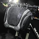 رخيصةأون المكياج & العناية بالأظافر-3 L حقيبة المقود للدراجة حقيبة الكتف مقاوم للماء المحمول يمكن ارتداؤها حقيبة الدراجة كنفا نايلون حقيبة الدراجة حقيبة الدراجة أخضر للجنسين الدراجة
