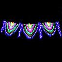 رخيصةأون أضواء شريط LED-4M أضواء سلسلة 420 المصابيح RGB + الأبيض ضد الماء / إبداعي / حزب 220-240 V 1SET