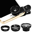 billige Apple Watch-remmer-Mobiltelefon Lens Fisheyelinse ABS + PC 25 mm 180 ° Objektiv med etui / Kul