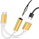 preiswerte Kabel & Adapter fürs Handy-Typ-C Kabel High-Speed Edelstahl / PP USB-Kabeladapter Für Samsung / Huawei