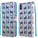 رخيصةأون أغطية أيفون-الحال بالنسبة لتفاح iphone xr / iphone xs max pattern / flip / with stand الحالات الكاملة الجسم الحيوان / لمعان تألق بو الجلود الصلبة ل iphone 6s / 6s plus / iphone 7/7 plus / iphone 8/8 plus / iphone