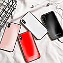 رخيصةأون أغطية أيفون-الحال بالنسبة لابل الصلبة لون الزجاج مرآة عودة شل حالة الهاتف المحمول مناسبة ل iphone6 / 6S / 6splus / 7 / 7plus / 8 / 8plus / x / xr / xs / xsmax