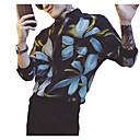 ieftine Gadget-uri & Piese Auto-Bărbați Guler Standing Cămașă Șic Stradă / Elegant - Floral / Geometric Imprimeu Negru / Manșon Lung