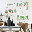 رخيصةأون ملصقات ديكور-ملصقات الحائط الخضراء بوعاء النباتات الطازجة - الكلمات&amp ؛ أمبير يقتبس ملصقات الحائط الشخصيات دراسة غرفة / مكتب / غرفة الطعام / المطبخ