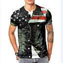 ieftine Brățări-Bărbați Rotund - Mărime EU / US Tricou De Bază - #D Curcubeu / Manșon scurt