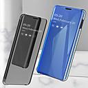 رخيصةأون إكسسوارات سامسونج-غطاء من أجل Samsung Galaxy Note 9 / Note 8 ضد الصدمات / تصفيح / مرآة غطاء كامل للجسم لون سادة قاسي جلد PU