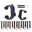 billige Klokkeremmer til Garmin-Klokkerem til Approach S6 / Approach S5 / Approach S20 Garmin Sportsrem Ekte lær Håndleddsrem