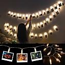 ieftine Becuri LED Corn-6m fotografie deținător de lumină LED-uri cu șir de baterii alimentat de Crăciun noul an petrecere nunta ramadan decorare lumini de zână