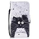 رخيصةأون أغطية أيفون-غطاء من أجل Apple iPhone XS / iPhone XR / iPhone XS Max محفظة / حامل البطاقات / ضد الصدمات غطاء كامل للجسم قطة جلد PU