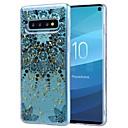 Недорогие Чехлы и кейсы для Galaxy S6 Edge-Кейс для Назначение SSamsung Galaxy S9 / S9 Plus / Galaxy S10 Защита от удара / Прозрачный / С узором Кейс на заднюю панель Цветы Мягкий ТПУ