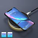 رخيصةأون شواحن لاسلكية-10 واط تشى شاحن ضوء اللاسلكية ل فون x xr xs ماكس 8 شحن سريع لوحة لاسلكية ل سامسونج s9 s8 huawei companion 20 pro