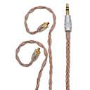 billige Audio- og videokabler-bqeyz 8 kerner enkeltkrystal kobber kablet i-øret øretelefon kabel mmcx stik 3,5 mm stik uden mikrofon