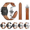 Недорогие Ремешки для часов Huawei-Ремешок для часов для Huawei Watch GT Huawei Спортивный ремешок / Бабочка Пряжка Нержавеющая сталь / Натуральная кожа Повязка на запястье