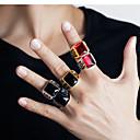 ieftine Inele-Bărbați Band Ring / Inel 1 buc Negru / Alb / Auriu Teak / Cristal Austriac Stilat / Vintage / La modă Petrecere / Zilnic / Carnaval Costum de bijuterii