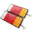 ieftine Lumini de Ceață Mașină-2pcs 44 leduri leduri de frână spate din plastic indică lampa autovehiculului lampa impermeabilă 12v 24v