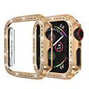 ieftine Gadget-uri USB-pentru ceas de mână carcasă iwatch 44mm / 40mm / 38mm / 42mm seria 4 3 2 1 carcasă de acoperire cu cadru de protecție cu diamant din stras din cristal