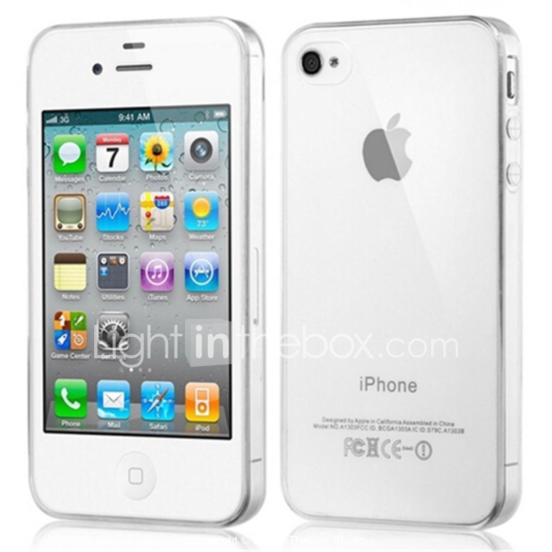 122e5b37bdc Funda Para iPhone 4/4S / Apple Funda Trasera Suave TPU para iPhone 4s /