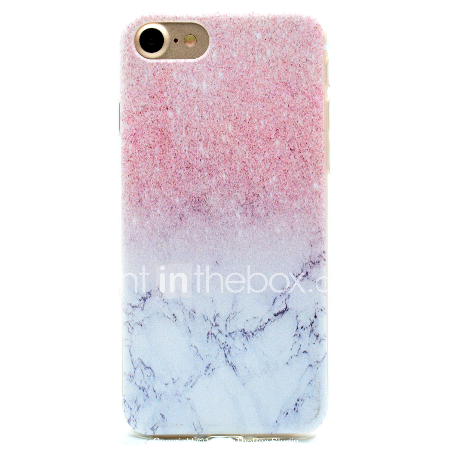fodral Till Apple iPhone X   iPhone 8   iPhone 7 Mönster Skal Marmor Mjukt  TPU 7251908a973d0