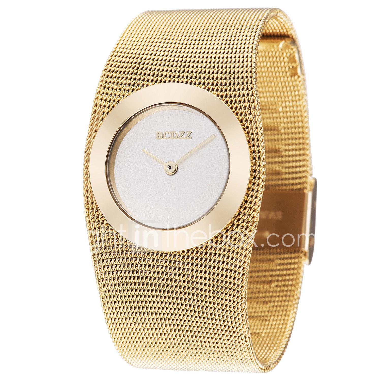 26daac1f1e3b ASJ Mujer Relojes de Lujo Reloj de Pulsera Relojes de Oro Japonés Cobre Dorado  Reloj Casual