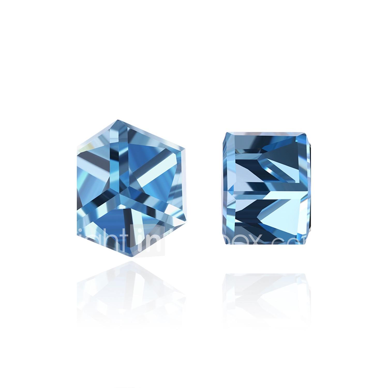 a1f613fbecf0 Mujer Circonita Diamante sintético Pendientes cortos Cristal Zirconio  Zirconia Cúbica Aretes damas Personalizado Moda Joyas Morado