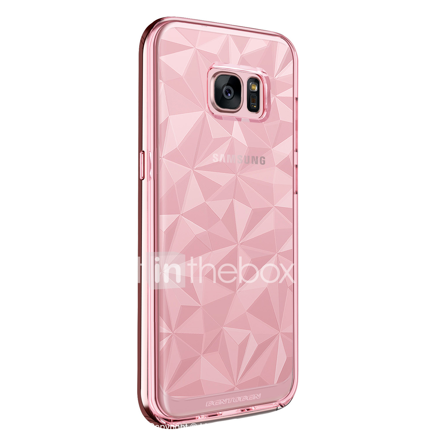 buy popular ef387 f98d3 BENTOBEN Case For Samsung Galaxy S7 edge Shockproof / Plating / Ultra-thin  Back Cover Solid Colored Soft TPU / PC for S7 edge