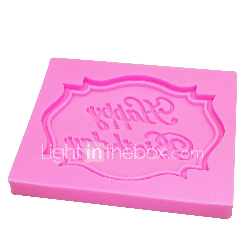 Happy Birthday Letter Silicone Mold Chocolate Fondant Cake Decoration Tools