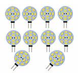 billiga -10pcs 3 W LED-lampor med G-sockel 300 lm G4 12 LED-pärlor SMD 5730 Dekorativ Förtjusande Varmvit Kallvit 12 V