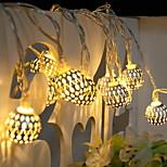 billiga -2.5m Ljusslingor 20 lysdioder Varmvit Dekorativ AA Batterier Drivs 1set