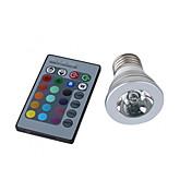 150 lm E26/E27 Focos LED MR16 1 leds LED de Alta Potencia Control Remoto RGB AC 100-240V AC 85-265V