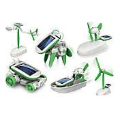 6 In 1 Robot Lekebiler Soldrevne leker Space Toys Vitenskaps- og oppdagelsesleker Leketøy Soldrevet Deler Gutt Jente Gave