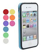 아이폰 4 / 4S용 실리콘 범퍼 프레임 케이스 (여러 색상)